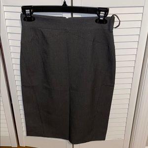 Dark grey suit skirt with back slit